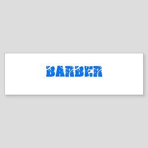 Barber Blue Bold Design Bumper Sticker