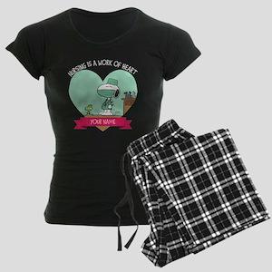 Snoopy Nursing - Personalize Women's Dark Pajamas