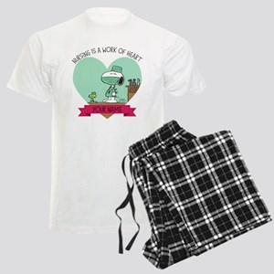 Snoopy Nursing - Personalized Men's Light Pajamas