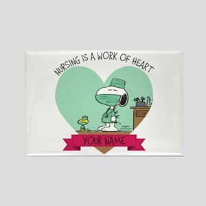 Snoopy Nursing - Personalized Rectangle Magnet