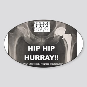 Hip Hip Hurray on your Hip Replacement Sticker
