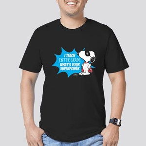 Snoopy Teacher - Perso Men's Fitted T-Shirt (dark)