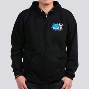 Snoopy Teacher - Personalized Zip Hoodie (dark)