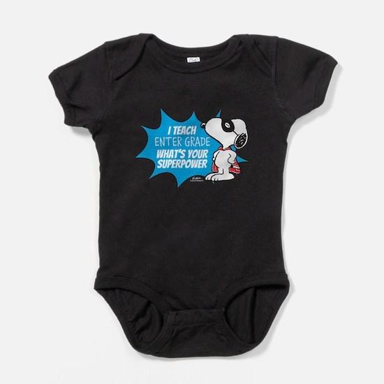 Snoopy Teacher - Personalized Baby Bodysuit