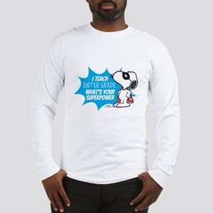 Snoopy Teacher - Personalized Long Sleeve T-Shirt