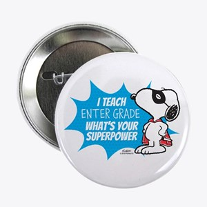 """Snoopy Teacher - Personalized 2.25"""" Button"""