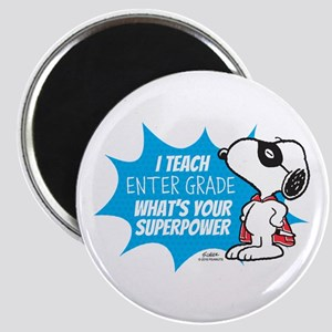 Snoopy Teacher - Personalized Magnet