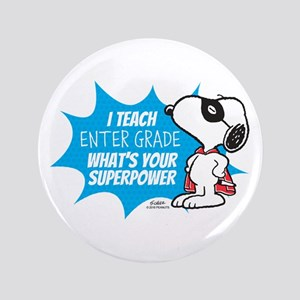 Snoopy Teacher - Personalized Button