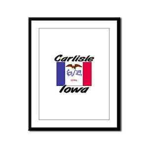 Carlisle Iowa Framed Panel Print