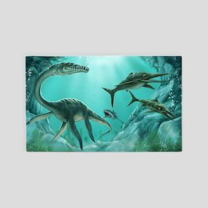 Underwater Dinosaur Area Rug