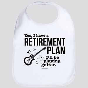 Guitar Retirement Plan Baby Bib