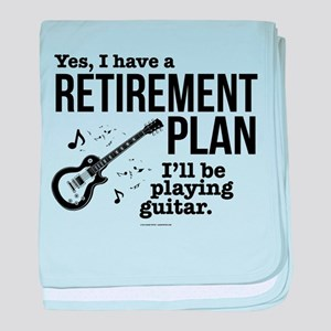 Guitar Retirement Plan baby blanket