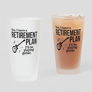 Guitar Retirement Plan Drinking Glass