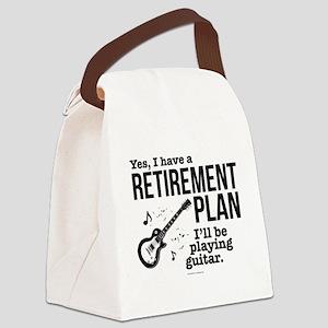 Guitar Retirement Plan Canvas Lunch Bag
