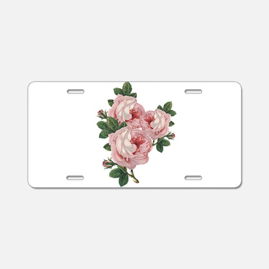 Roses are gorgeous Aluminum License Plate