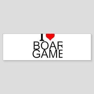 I Love Board Games Bumper Sticker