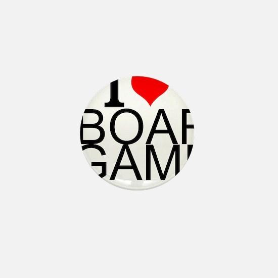 I Love Board Games Mini Button