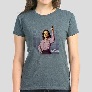 Agent Carter Halftone Women's Dark T-Shirt