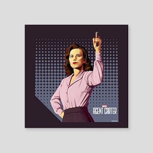 "Agent Carter Halftone Square Sticker 3"" x 3"""