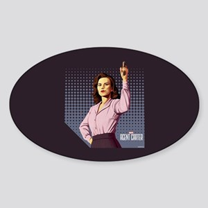 Agent Carter Halftone Sticker (Oval)