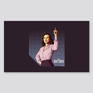 Agent Carter Halftone Sticker (Rectangle)