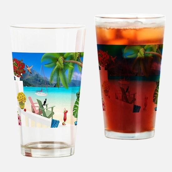 Funny Beach Drinking Glass