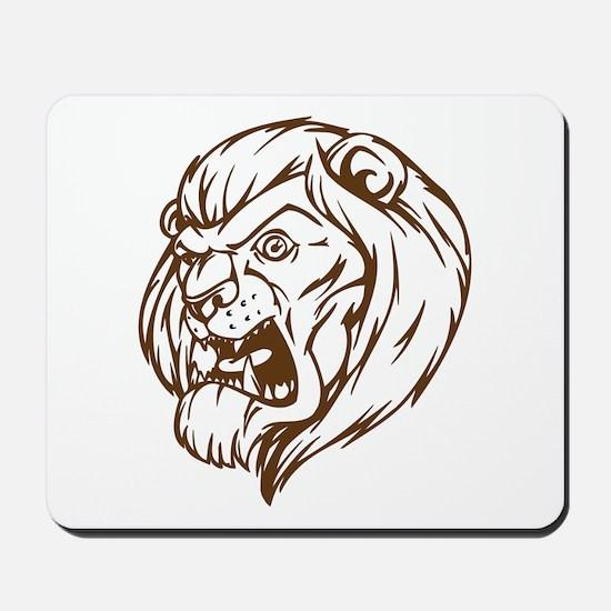 Lion Mascot (Brown) Mousepad