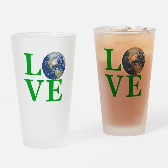 Love Earth Drinking Glass
