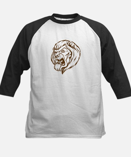 Lion Mascot (Brown) Kids Baseball Jersey