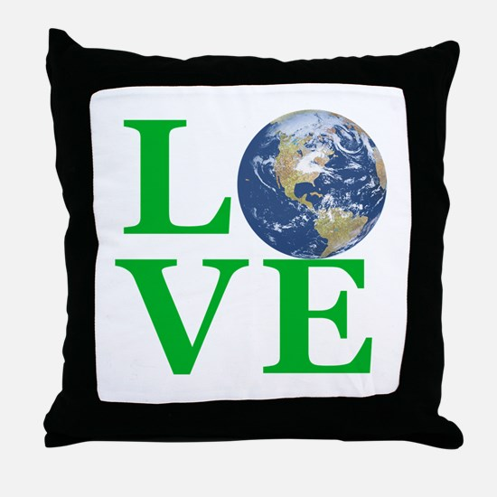 Love Earth Throw Pillow