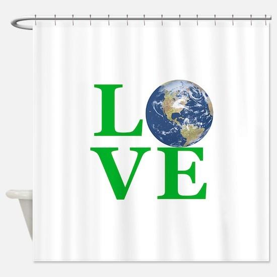 Love Earth Shower Curtain