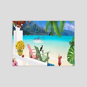 Seaside Vacation 5'x7'Area Rug