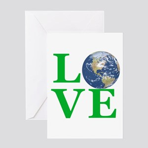 Love Earth Greeting Cards