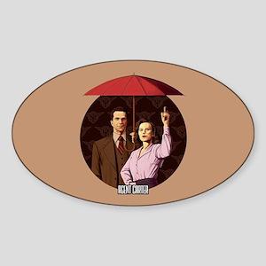 Agent Carter Umbrella Sticker (Oval)