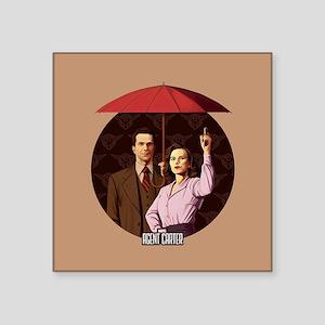 "Agent Carter Umbrella Square Sticker 3"" x 3"""