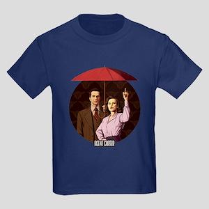 Agent Carter Umbrella Kids Dark T-Shirt