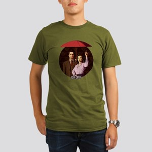 Agent Carter Umbrella Organic Men's T-Shirt (dark)