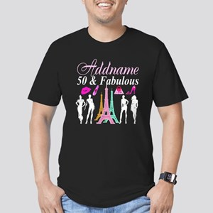 50TH PARIS Men's Fitted T-Shirt (dark)