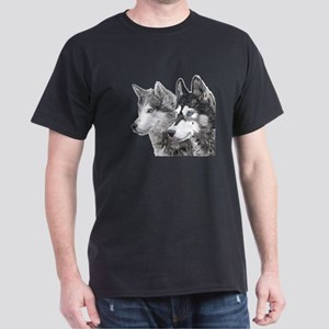 Husky Art Portrait T-Shirt
