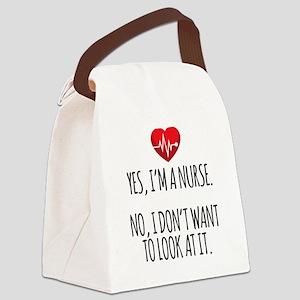 Yes I'm a Nurse Funny Canvas Lunch Bag