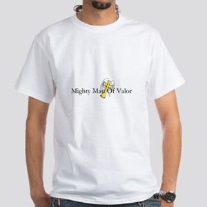 White T-Shirt (mighty Man Of Valor)