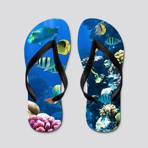 Sea Life Flip Flops