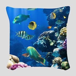 Sea Life Woven Throw Pillow
