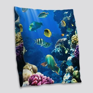 Sea Life Burlap Throw Pillow