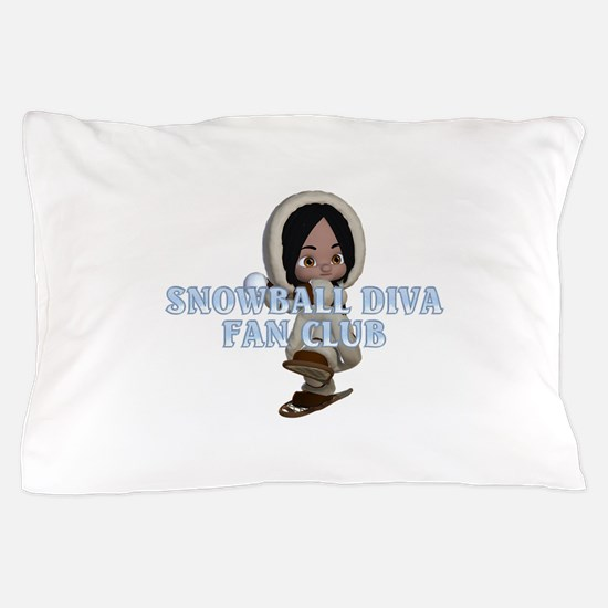 Snowball Diva Pillow Case