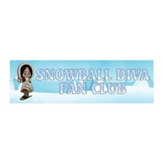 Snowball Diva Wall Decal