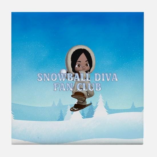 Snowball Diva Tile Coaster