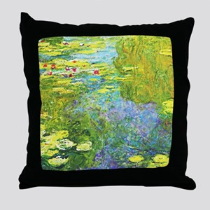 Le bassin aux nymphéas Monet Fine Throw Pillow