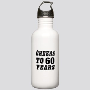 Cheers To 60 Stainless Water Bottle 1.0L