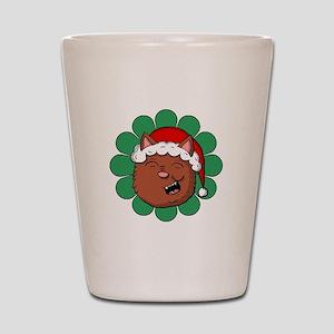 Happy Christmas Kitty Shot Glass